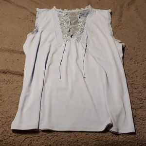 Express Baby Blue Blouse Top, Size L